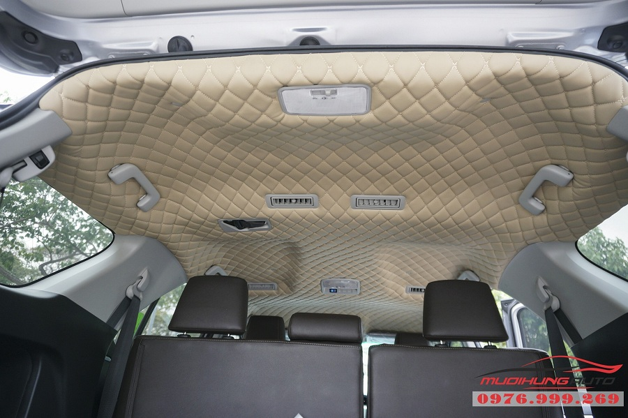 Bọc Trần Da 5D cao cấp dành cho xe Fortuner tại TP HCM 01