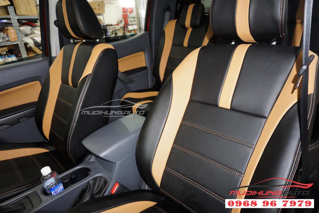 Bọc ghế da thay đổi màu nội thất Ford Ranger giá rẻ