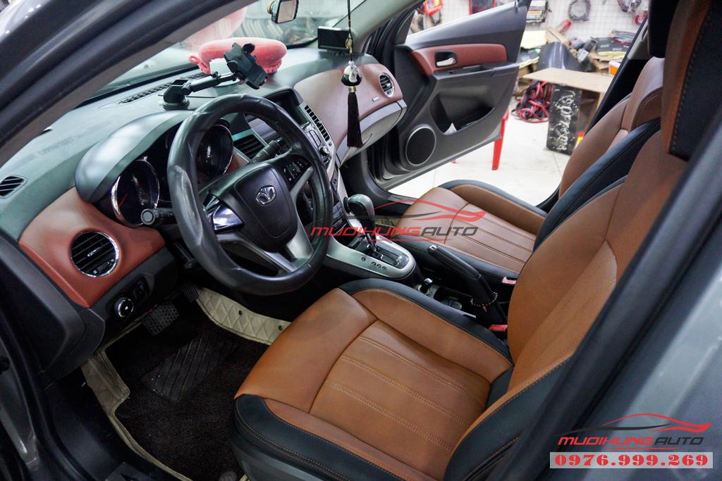 Bọc ghế da thay màu nội thất Chevrolet Cruze tại tphcm