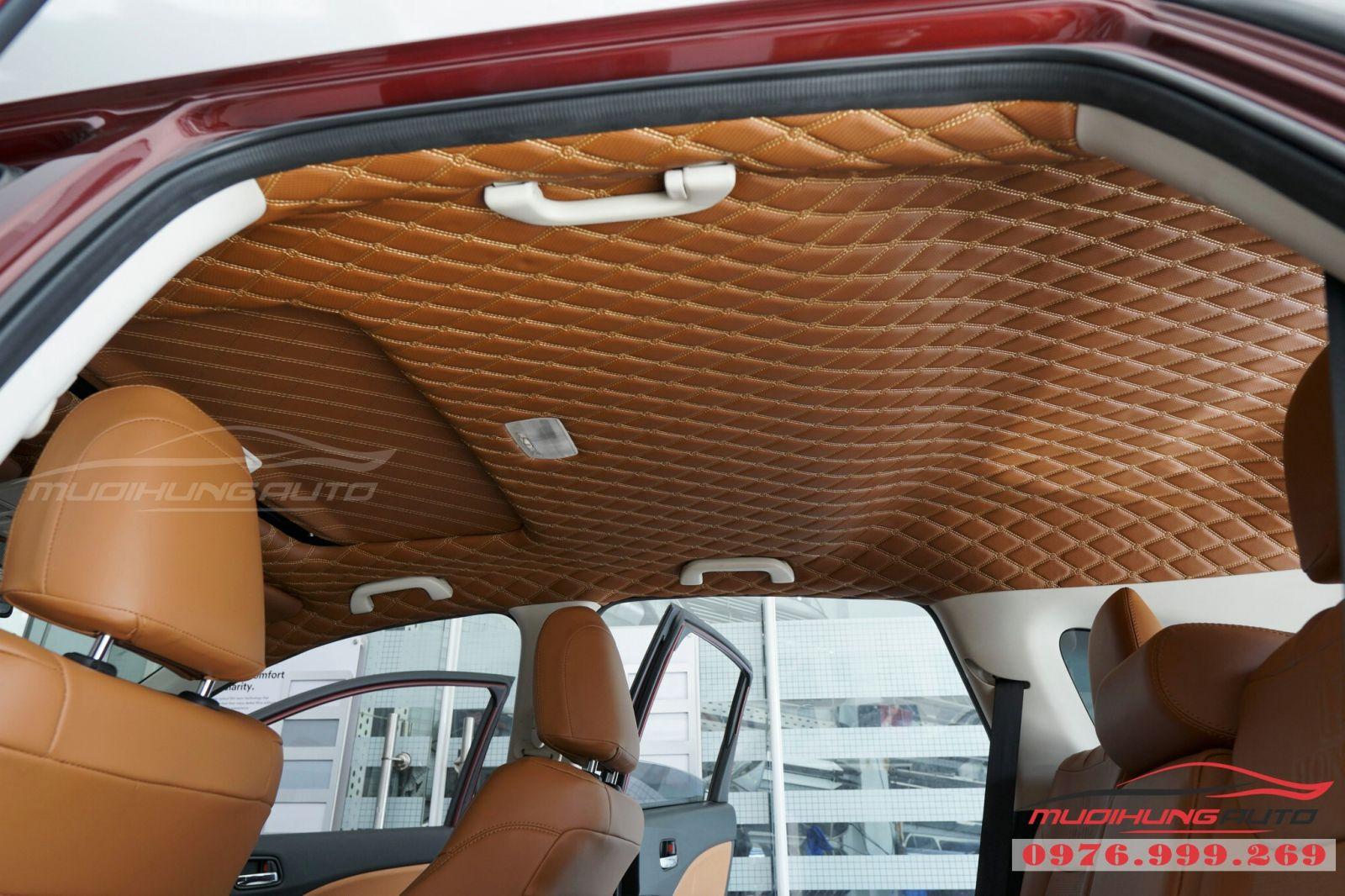 Bọc trần da 5D cho xe Honda CRV 02