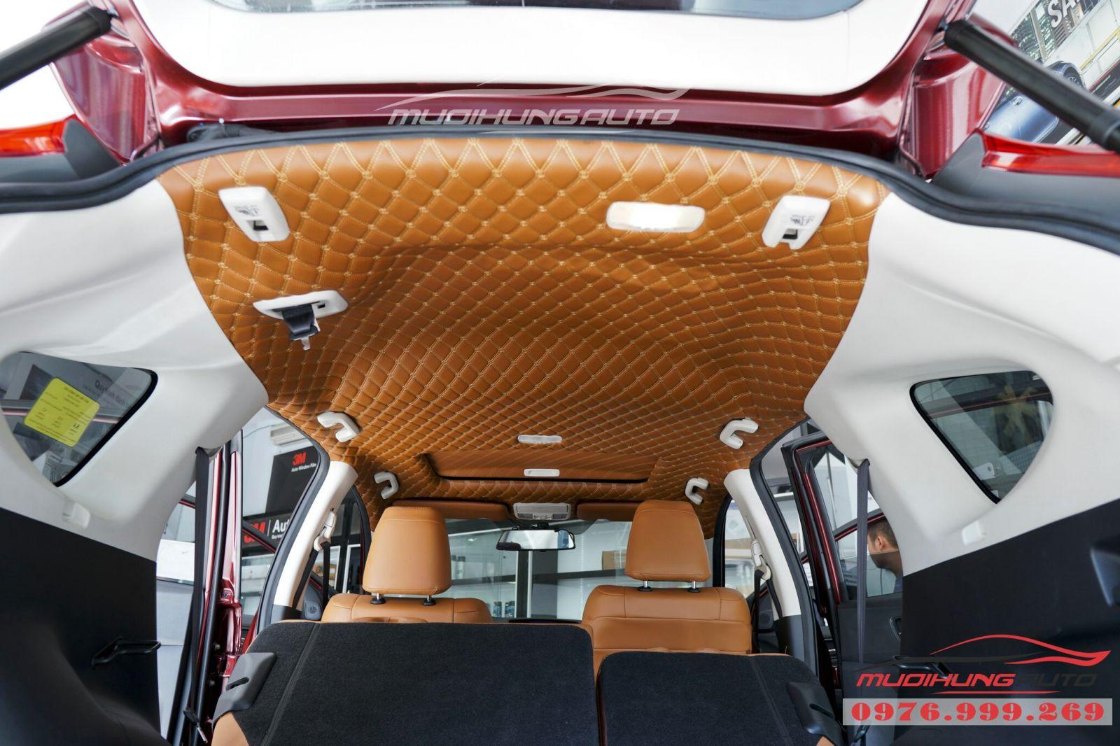 Bọc trần da 5D cho xe Honda CRV 05