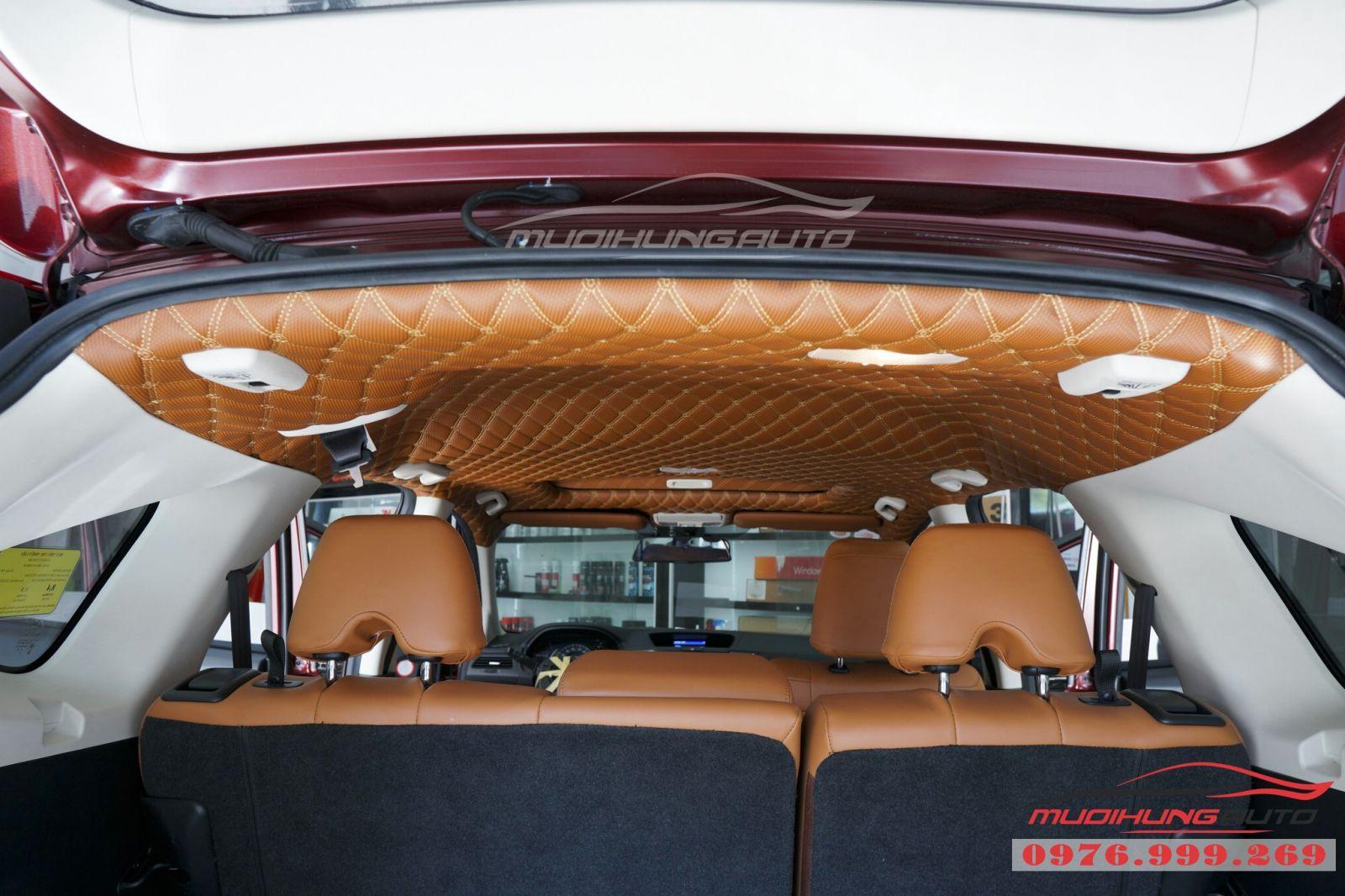 Bọc trần da 5D cho xe Honda CRV 01