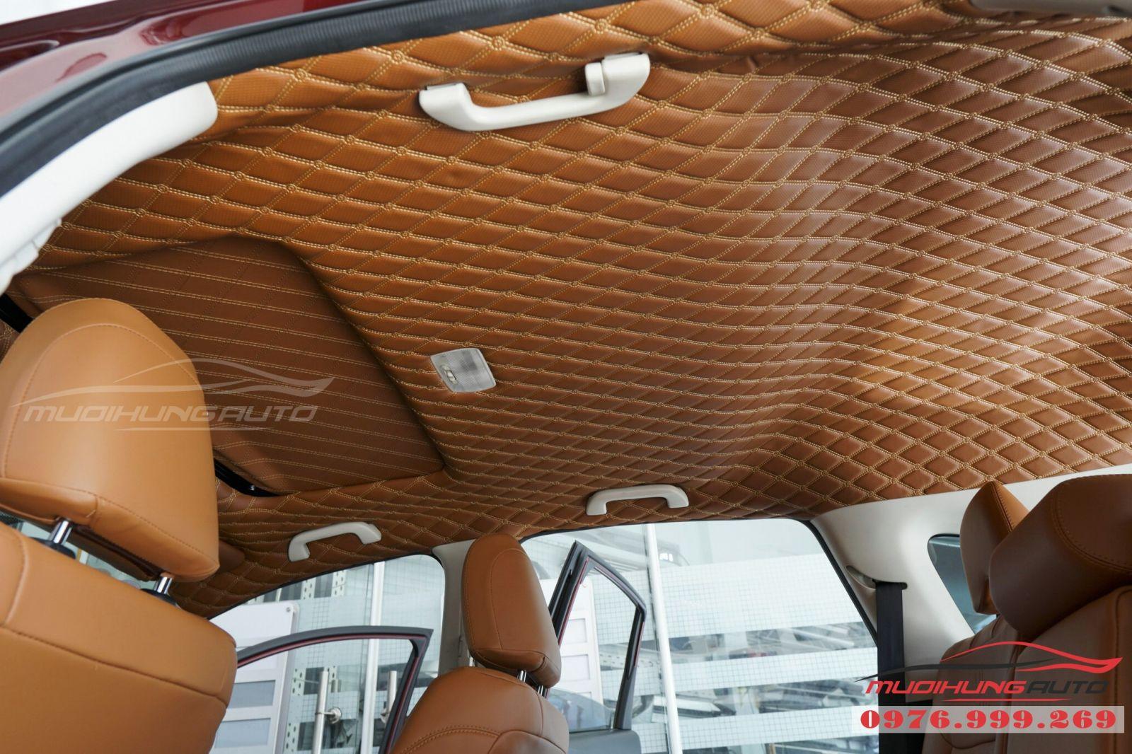 Bọc trần da 5D cho xe Honda CRV 06