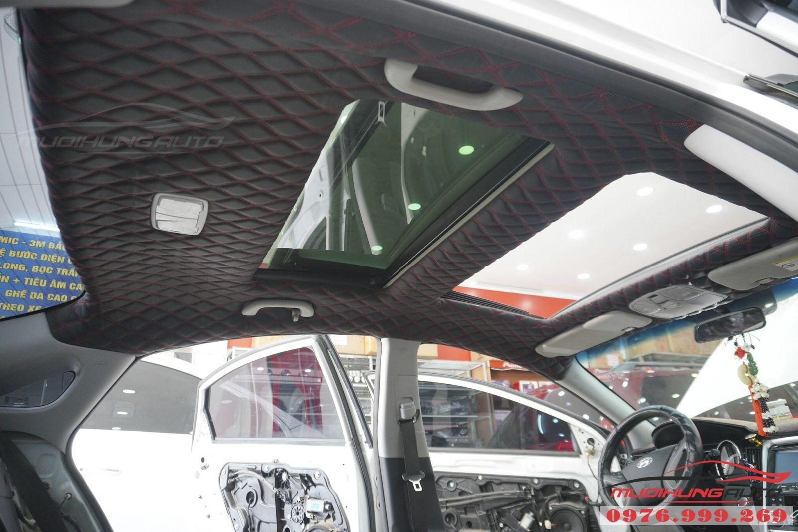 Bọc trần 5D cho Hyundai Sonata cao cấp 04