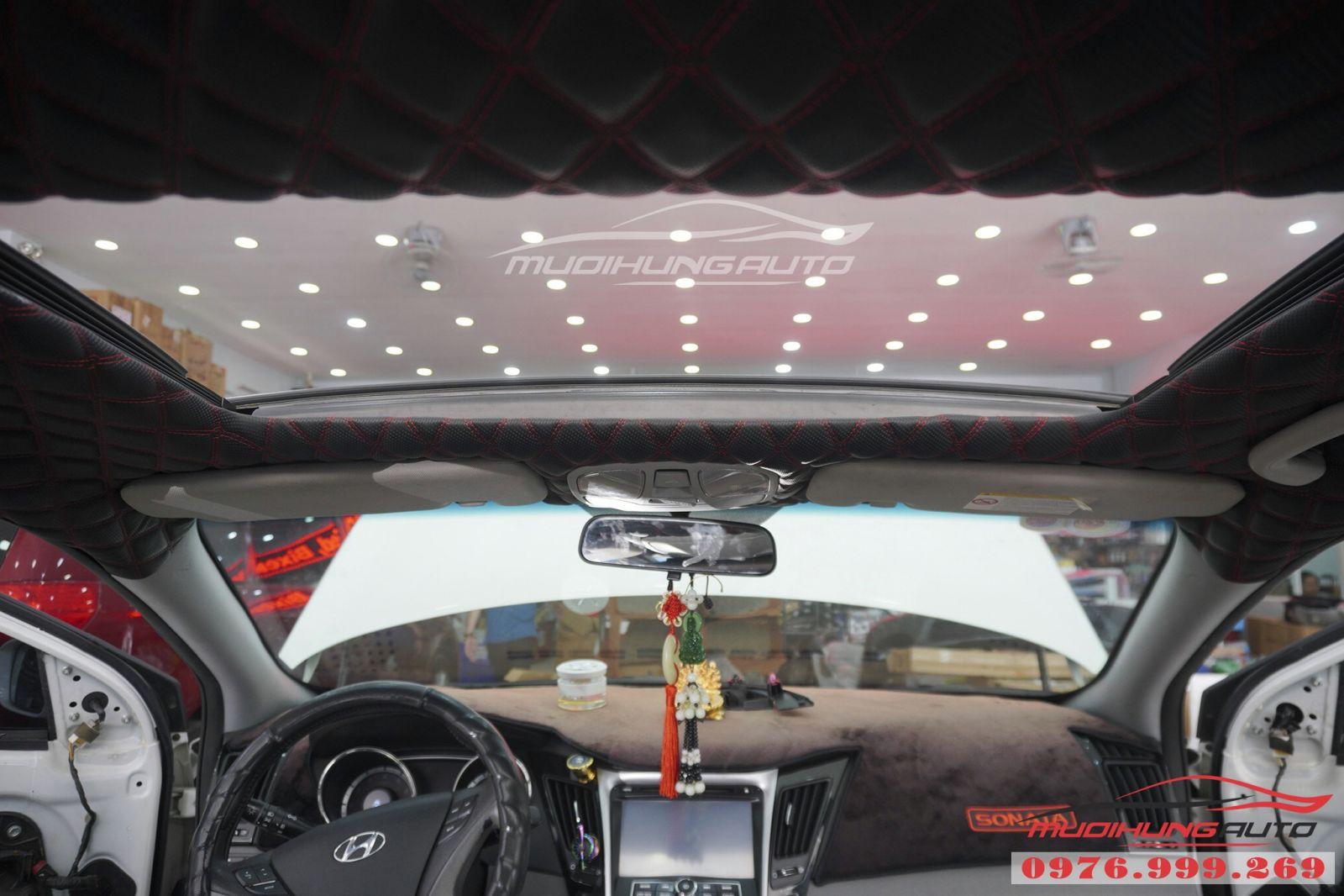 Bọc trần 5D cho Hyundai Sonata cao cấp 09