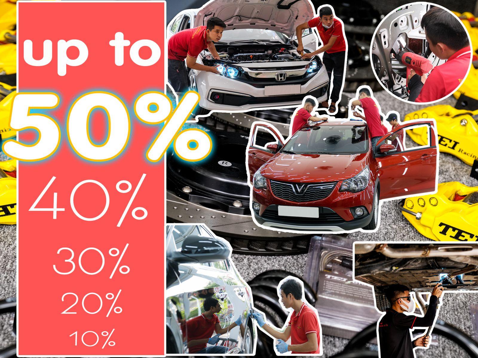 Chương TRình khuyến mãi lên đến 50% tại Mười Hùng Auto