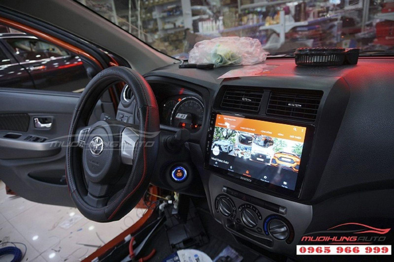 DVD Zestech Z500 chính hãng cho xe Toyota Wigo 04