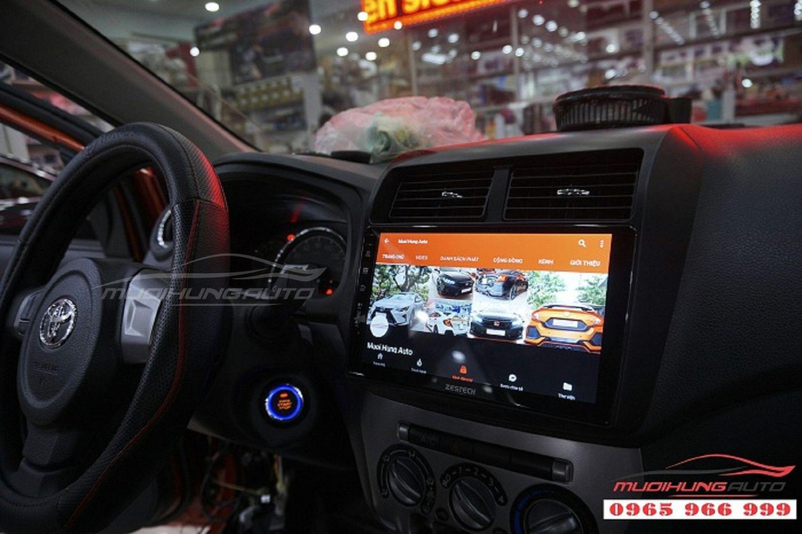 DVD Zestech Z500 chính hãng cho xe Toyota Wigo 06
