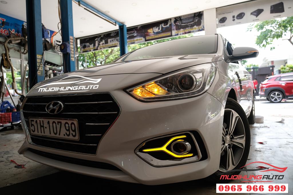 Độ đèn LED gầm trước sau cho Hyundai Accent 2019 - 2020