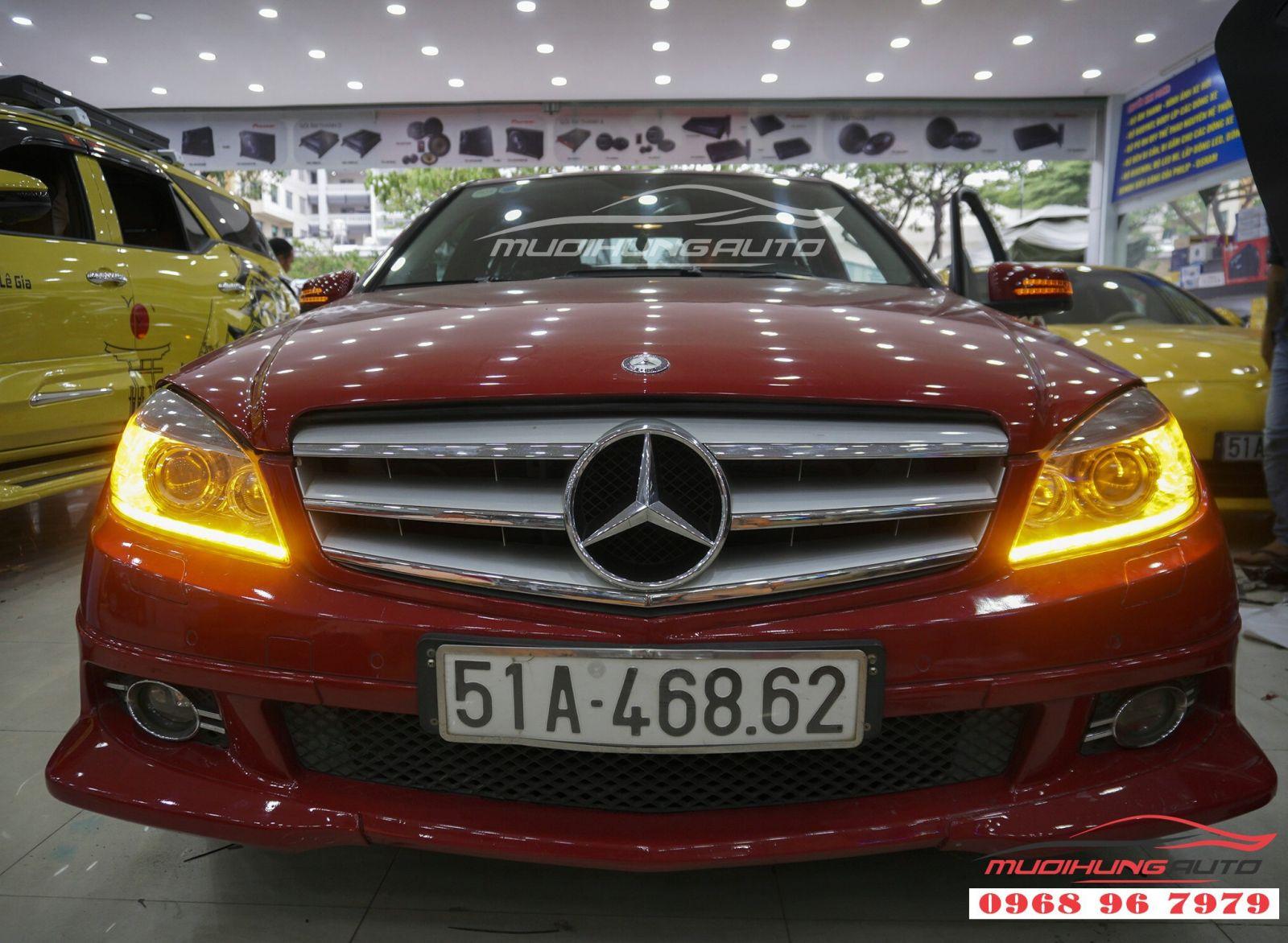 Độ LED mí Audi cho Mercedes C250 tại TP HCM 06