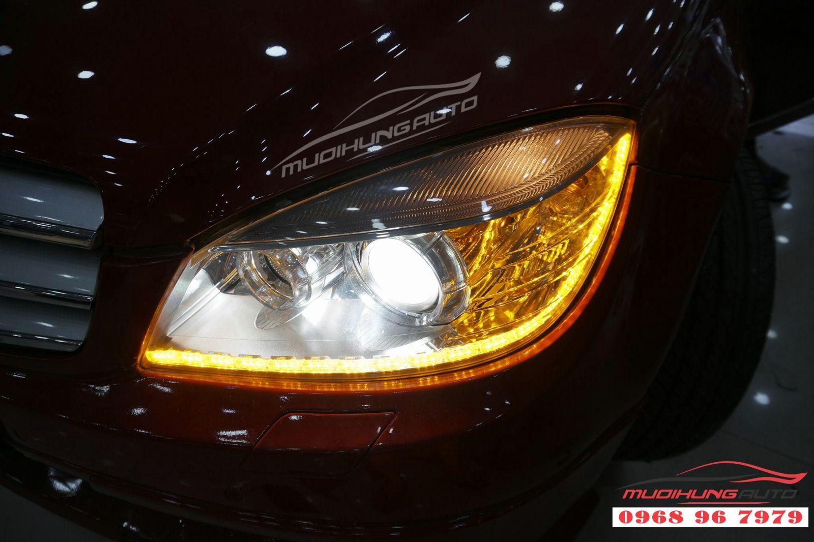 Độ LED mí Audi cho Mercedes C250 tại TP HCM 02