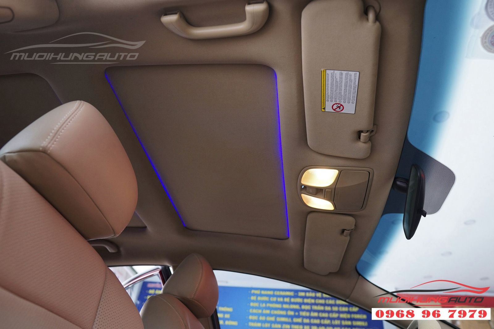 Độ LED trần nội thất cho Sonata tại TP HCM 03
