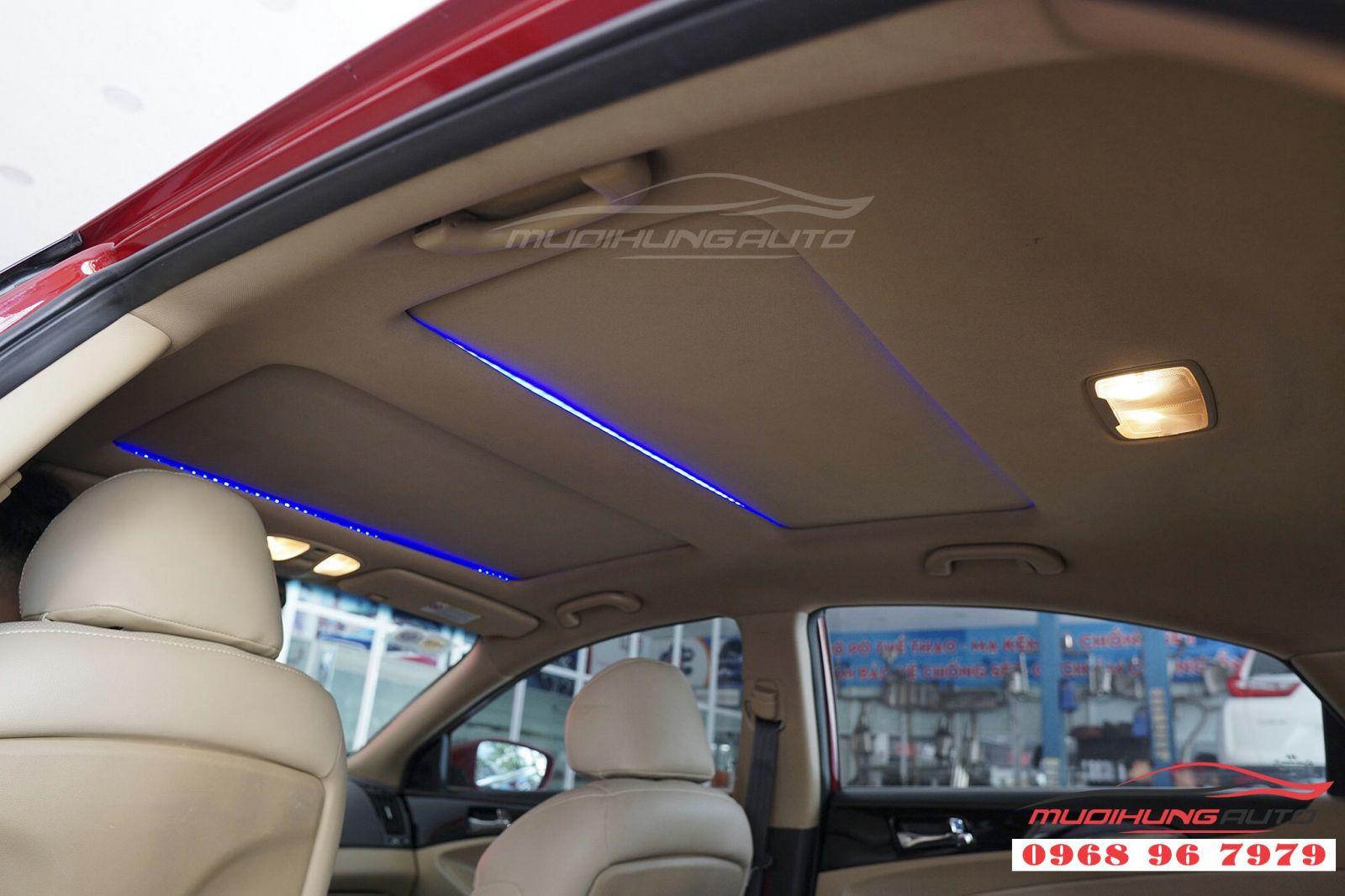 Độ LED trần nội thất cho Sonata tại TP HCM 06