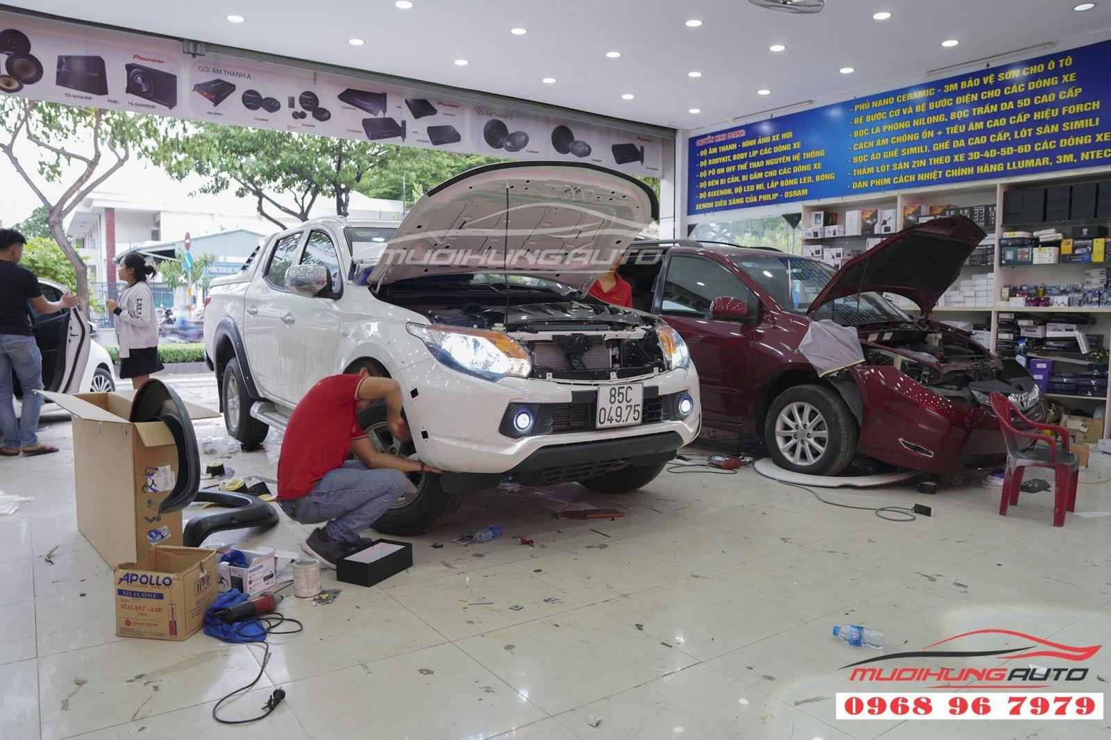 Độ bi gầm và bi pha tăng sáng cho ô tô tại TPHCM 02