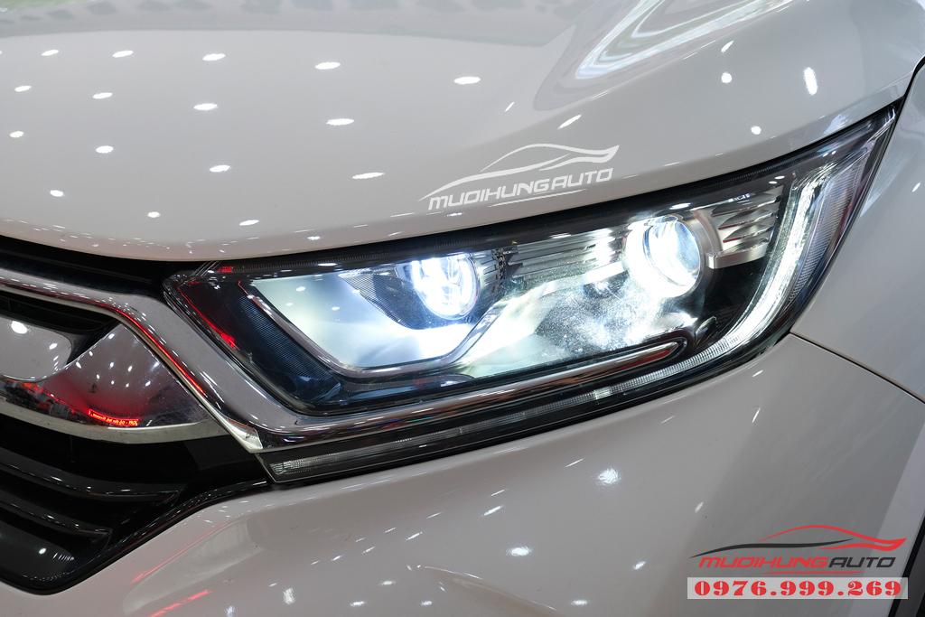 Độ Bi xenon cos pha và gắn Led đèn pha xe Honda CRV 2019 03