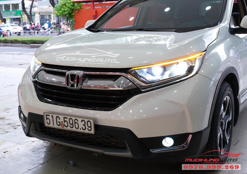 Độ Bi xenon cos pha và gắn Led đèn pha xe Honda CRV 2019 04