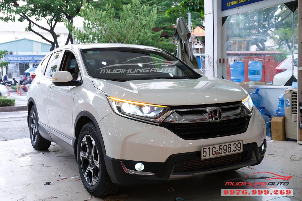 Độ Bi xenon cos pha và gắn Led đèn pha xe Honda CRV 2019 07