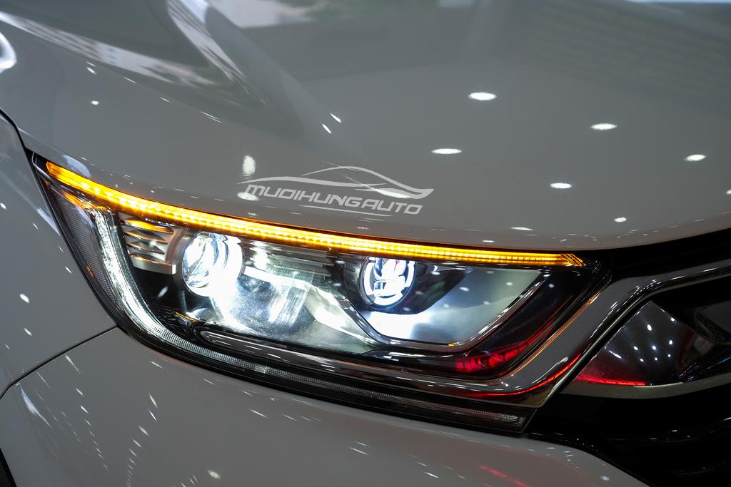 Độ Bi xenon cos pha và gắn Led đèn pha xe Honda CRV 2019 08