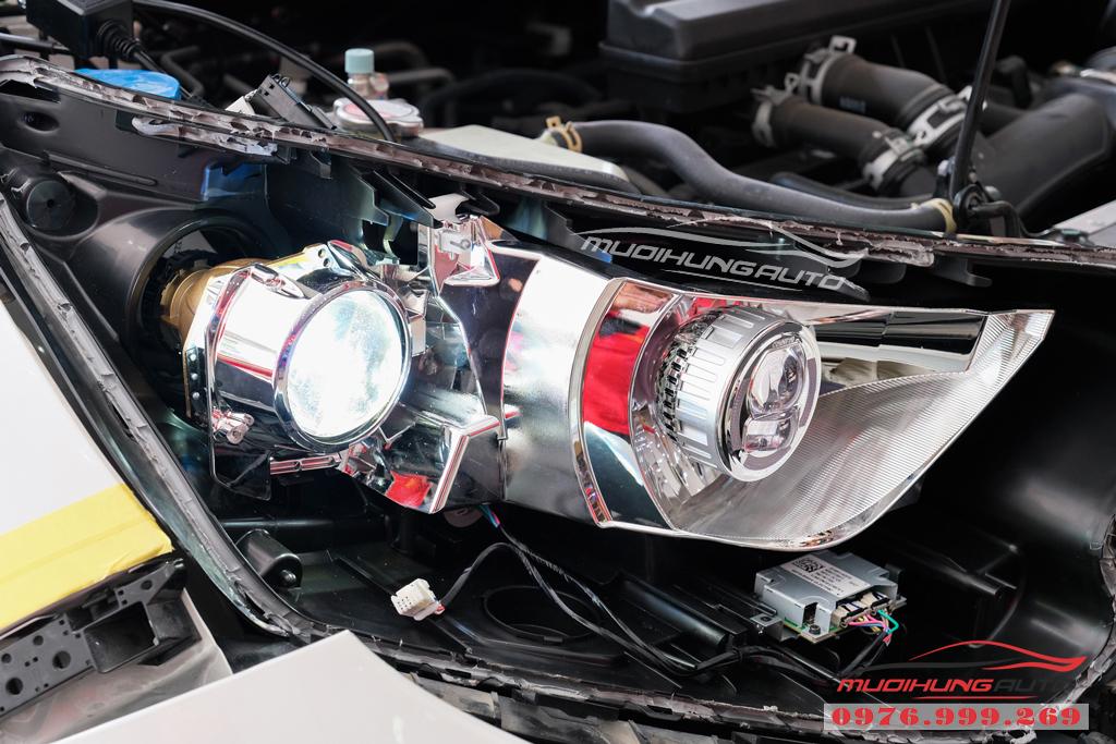 Độ Bi xenon cos pha và gắn Led đèn pha xe Honda CRV 2019 10