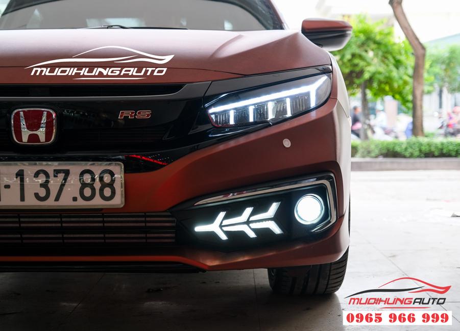 Độ bixenon đèn cản Honda Civic 2019 chuyên nghiệp