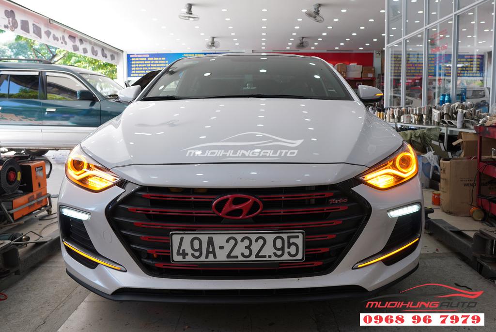 Độ đèn led cản trước Hyundai Elantra 2018 05