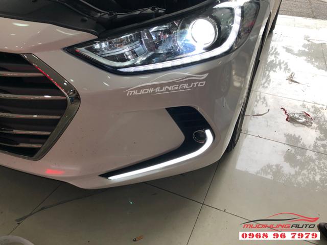 Độ đèn led cản trước Hyundai Elantra 2018 07