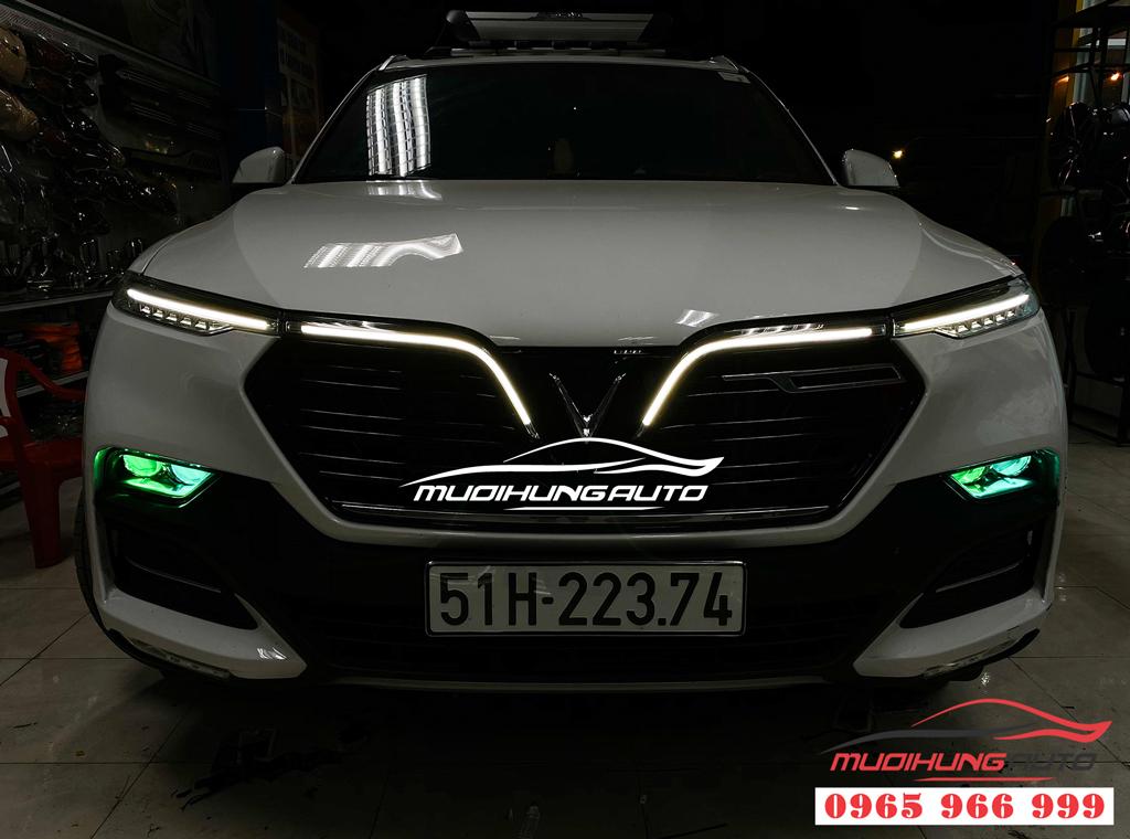Độ đèn LED mắt quỷ đổi màu cho Vinfast Lux SA 2.0