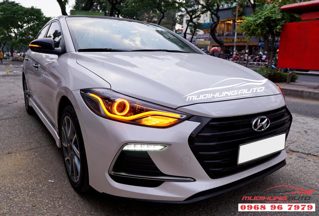Độ đèn Led pha Hyundai Elantra 2018 chuyên nghiệp 02