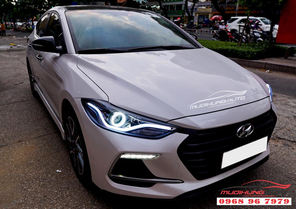 Độ đèn Led pha Hyundai Elantra 2018 chuyên nghiệp 08