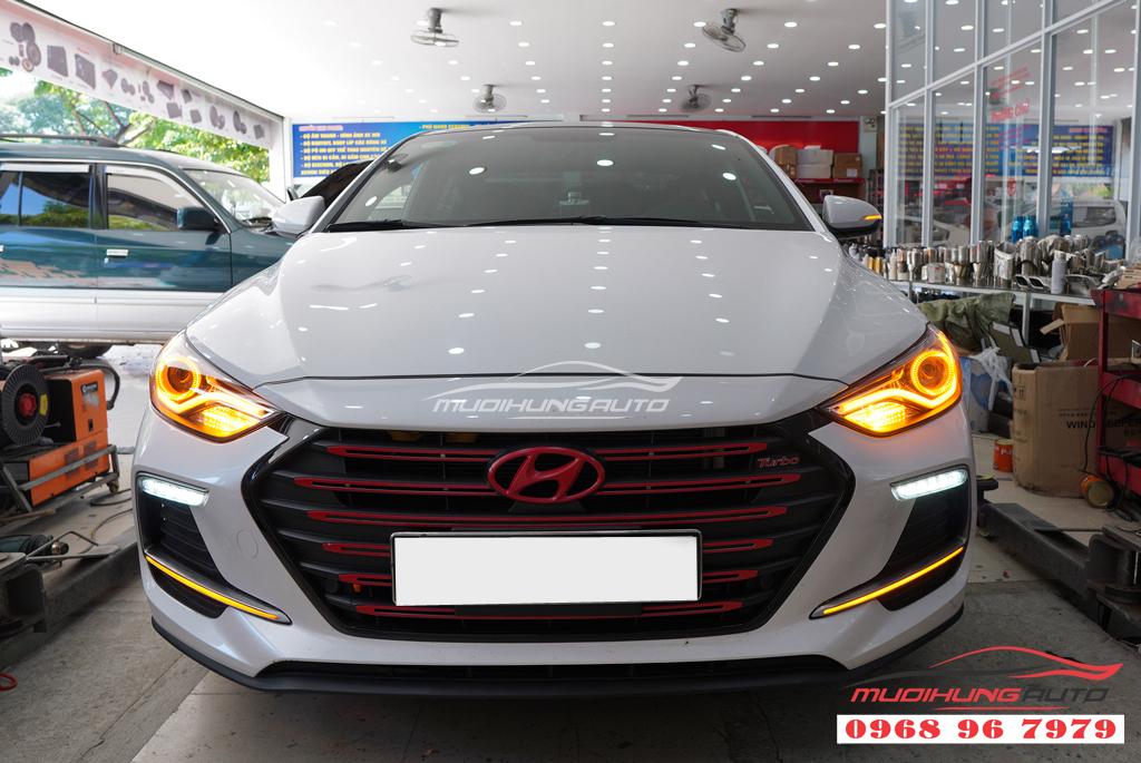 Độ đèn Led pha Hyundai Elantra 2018 chuyên nghiệp 09
