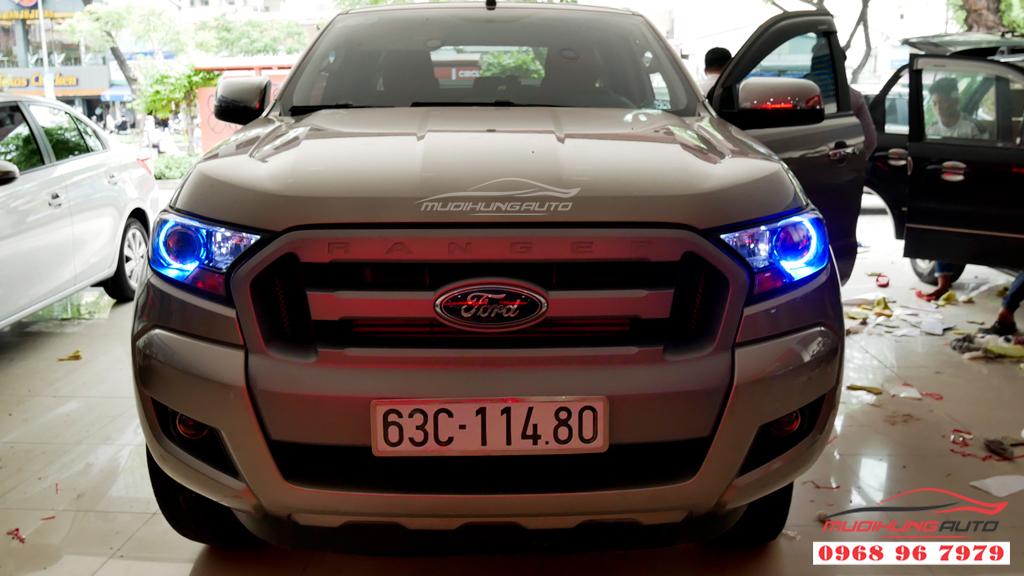 Độ đèn bixenon đèn Pha Ford Ranger chuyên nghiệp