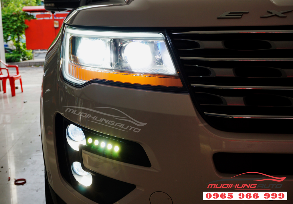 Độ đèn Pha xe Ford Explorer Led Mica cao cấp
