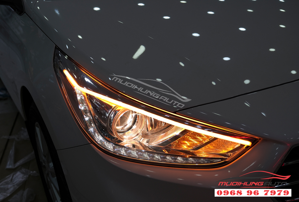 Độ đèn Pha xe Hyundai ACCENT uy tín 01