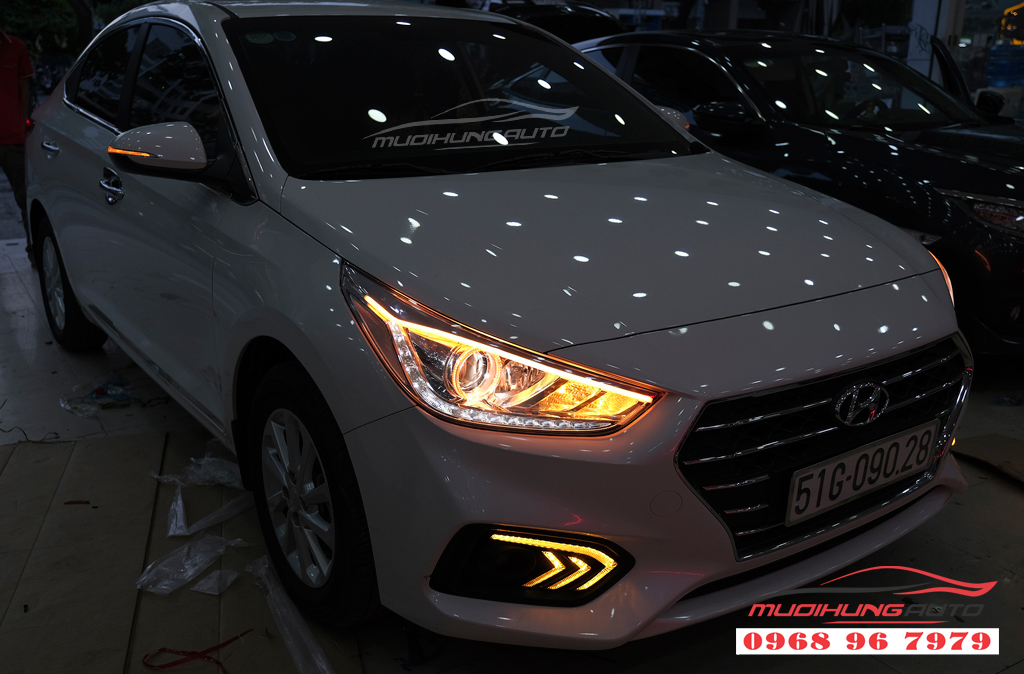 Độ đèn Pha xe Hyundai ACCENT uy tín 13