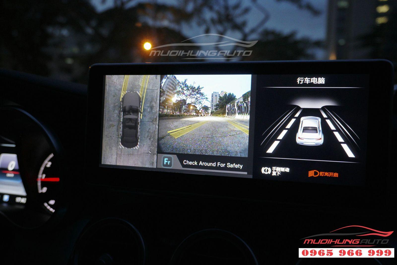 Gắn camera 360 độ cho Merdedes C250 03
