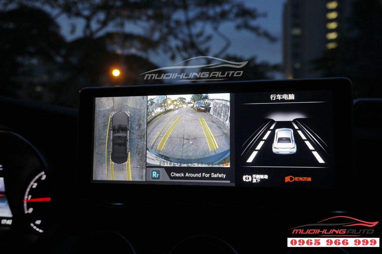 Gắn camera 360 độ cho Merdedes C250 05