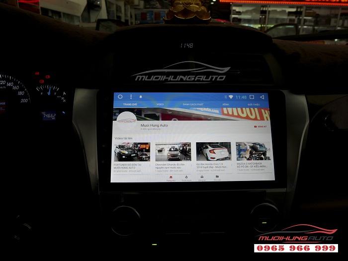 Gắn Dvd theo xe Toyota Camry chính hãng giá rẻ 01