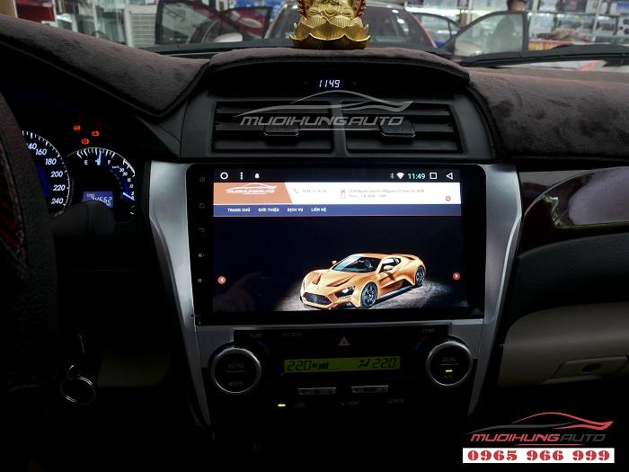 Gắn Dvd theo xe Toyota Camry chính hãng giá rẻ 04