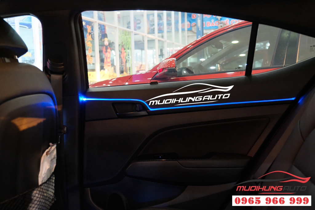Gắn LED nội thất cao cấp cho Hyundai Elantra 2020