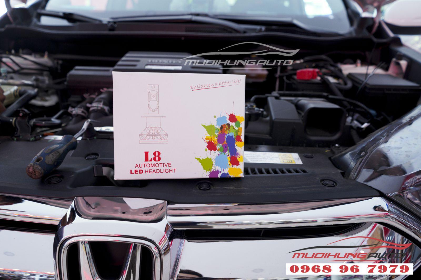Gắn bóng led siêu sáng Honda Crv 2019 chính hãng 03