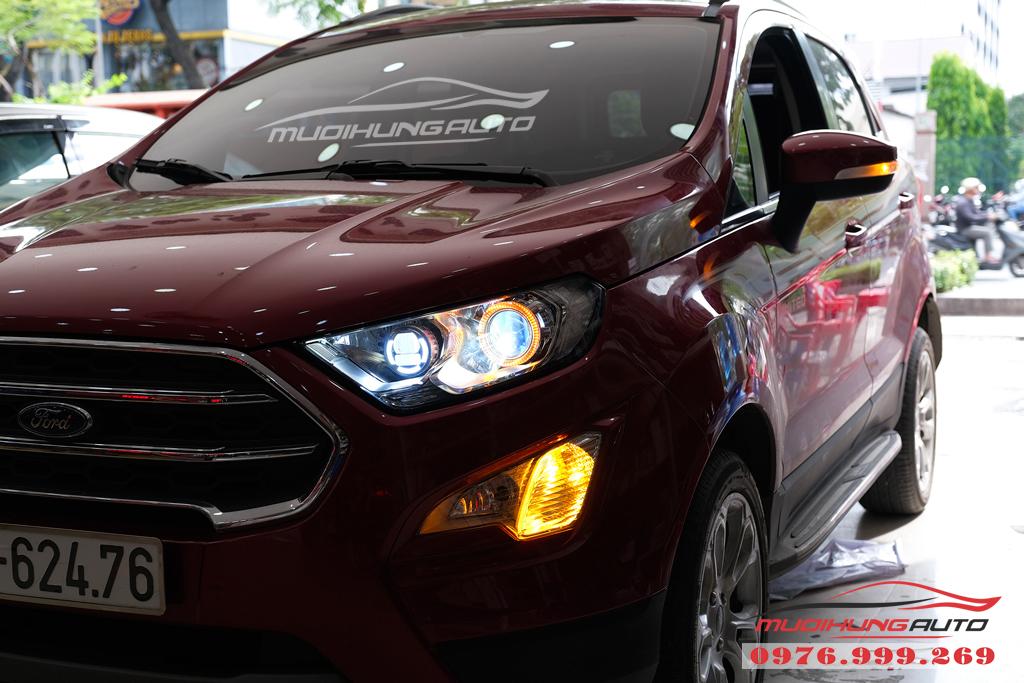 Gắn bóng xenon và Led pha xe Ford Ecosport chính hãng 03