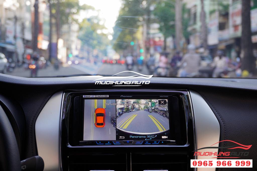 Gắn camera 360 độ Toyota Yaris 2019 chính hãng