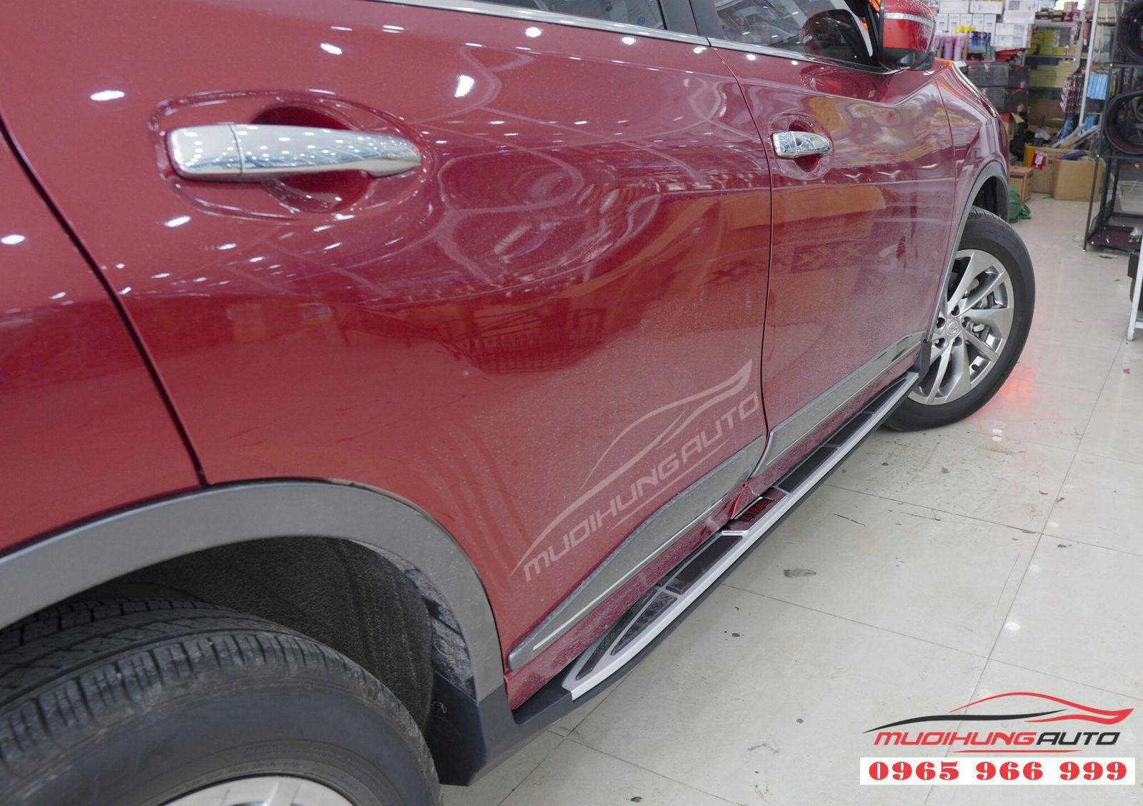 Lắp bệ bước chân chính hãng cho Nissan X-trail 02