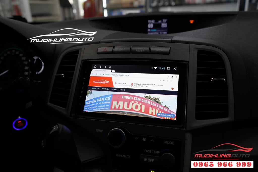 Lắp màn hình DVD Toyota Venza chính hãng