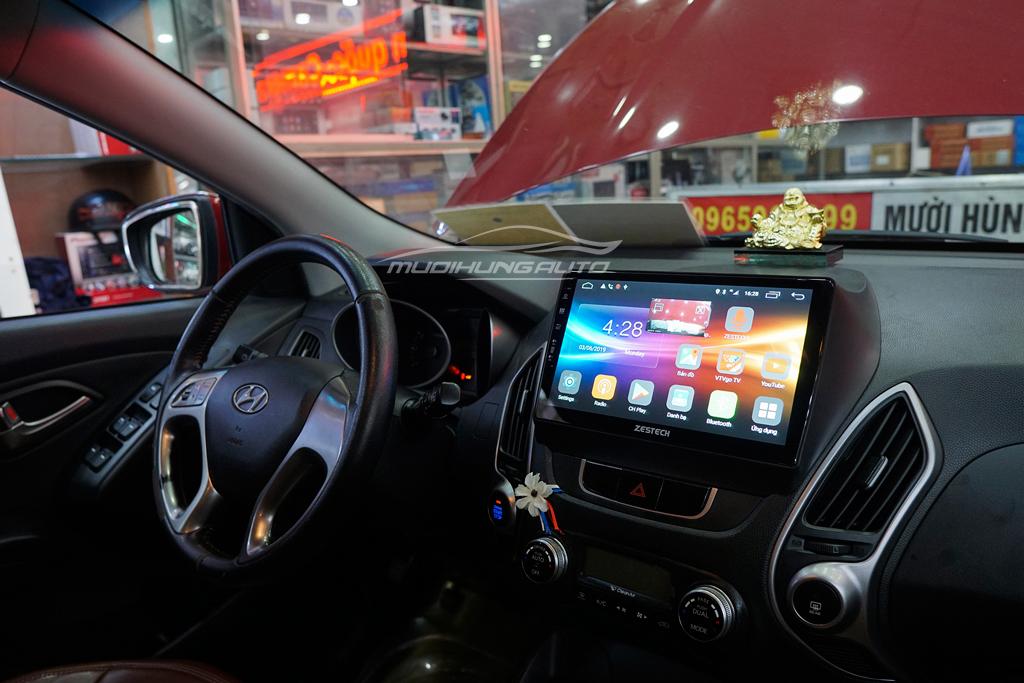 Lắp Màn hình DVD Theo xe Hyundai Tucson 2018