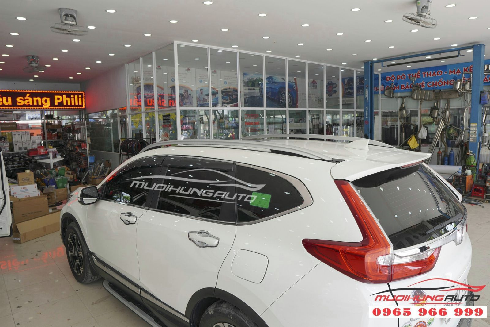 Lắp thanh giá nóc cao cho Honda CRV 2019 giá rẻ 12