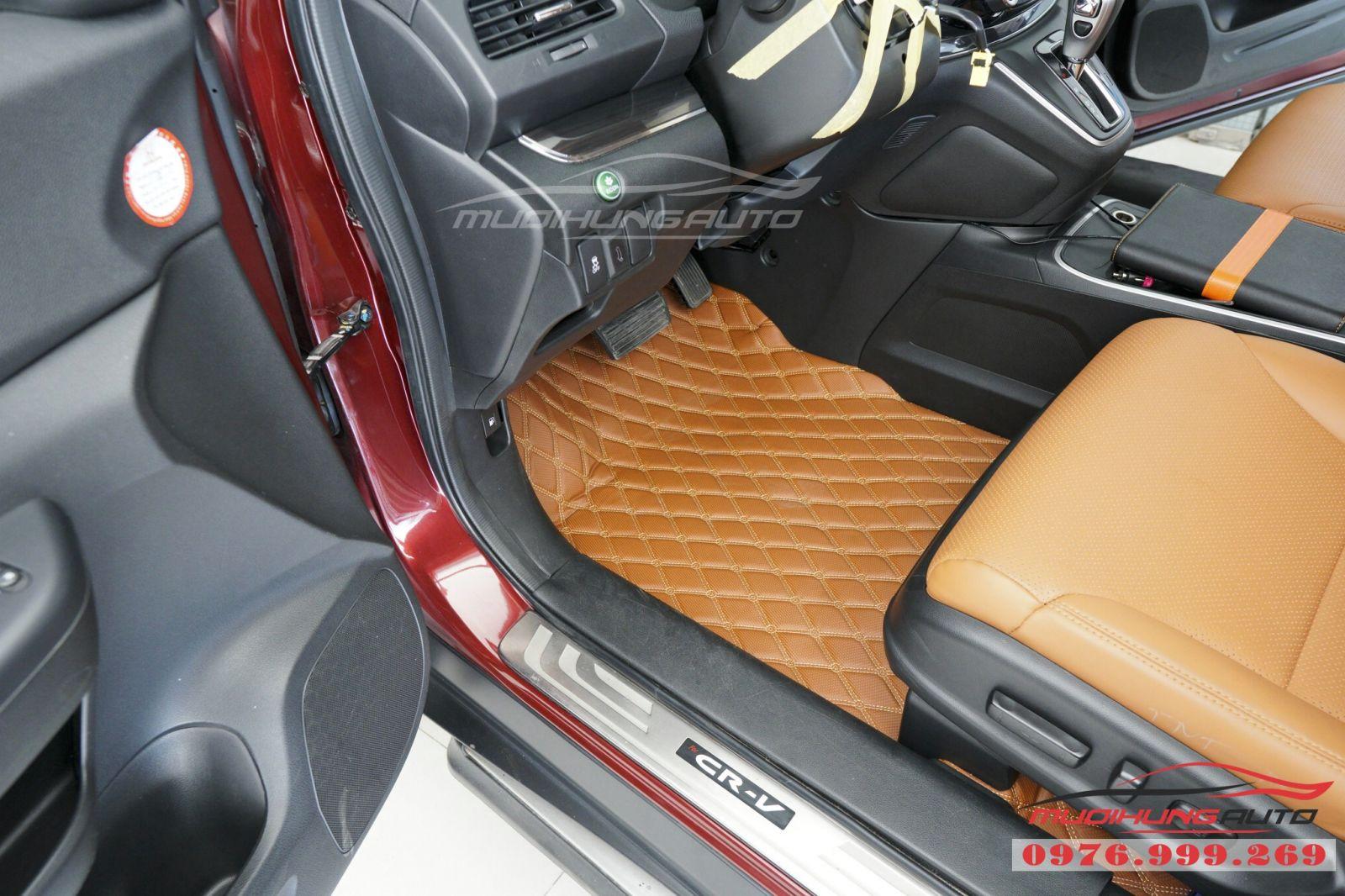 Lót sàn da 5D cao cấp cho Honda CRV giá tốt 02