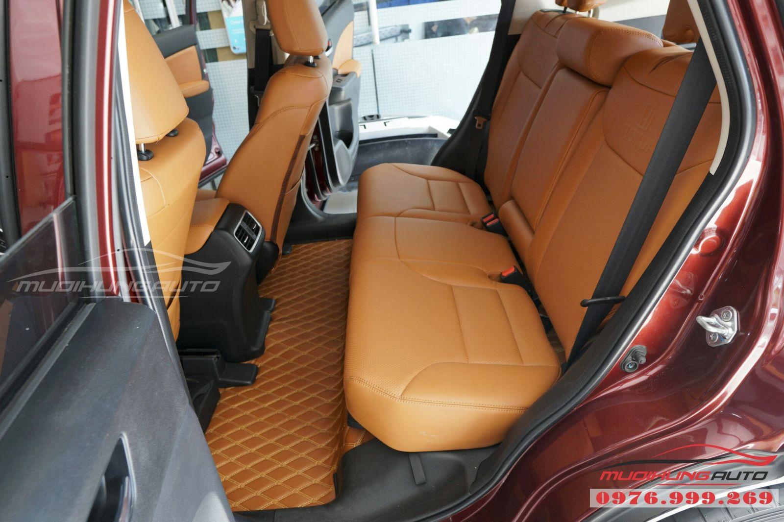 Lót sàn da 5D cao cấp cho Honda CRV giá tốt 03