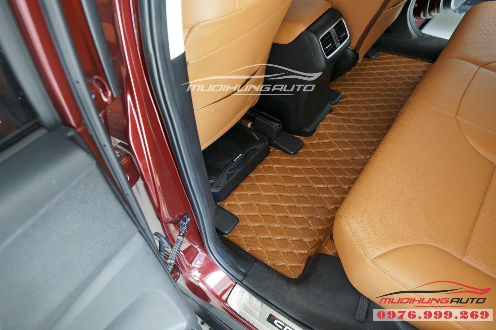Lót sàn da 5D cao cấp cho Honda CRV giá tốt 04