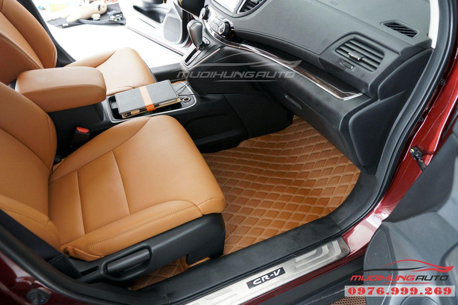 Lót sàn da 5D cao cấp cho Honda CRV giá tốt 05